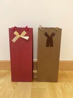 Red wine paper bag 紅酒紙袋