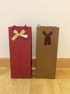 Red wine paper bag 紅酒紙袋