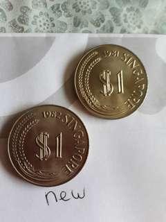 S'pore S$1(1981,1982) S$13each 2pcsS$25