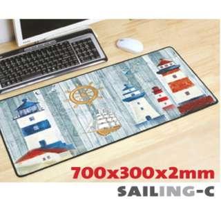 SAILING-C 7030 Extra Large Mousepad Anti-Slip Gaming Office Desktop Coffee Dining Tabletop Decorative Mat
