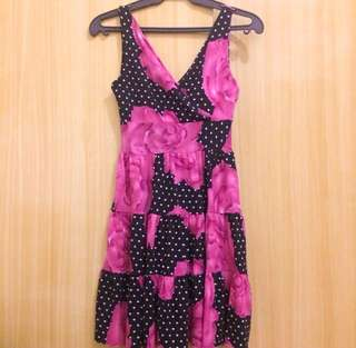 floral polka dot dress