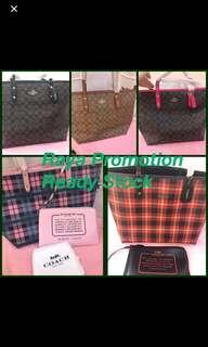 Original coach women reversible tote city tote handbag crossbody bag