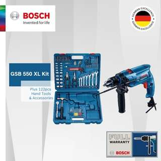 [Free Reg Mail] Bosch GSB 550 XL Impact Drill Set (122 hand tools and acc.)