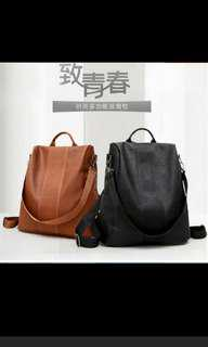 Anti-Theft Design Backpack (available black & brown)