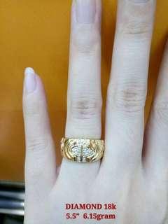 DIAMOND RING -SAUDI GOLD 18K