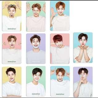 Wanna One innisfree代言水晶卡貼