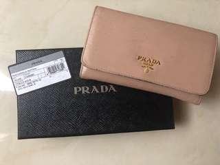 Prada Blush / Pink Textured Leather Wallet 銀包 粉
