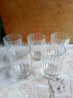 5pcs Transparent glass cups for sale