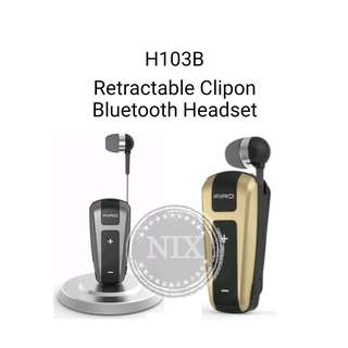 Firo H103B V4.1 CSR Retractable Wireless Bluetooth Headset