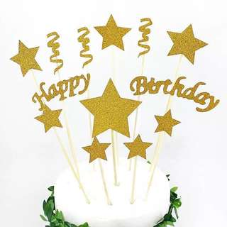 🌟 Generic Birthday supplies - DIY birthday cake deco/ cake toppers