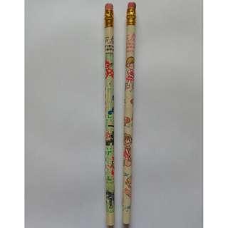 Vintage pencils (Animal and girl designs)