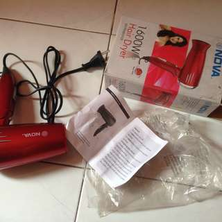 preloved hair dryer nova 1600W