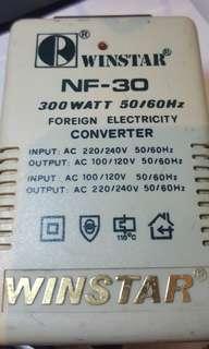 Electrical converter 300Watts 50/60Hz