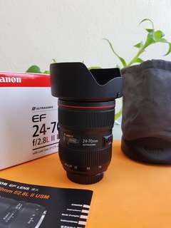 Canon EF 24-70mm f2.8L ll USM Lens-98% new