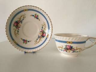 Vintage Old English Johnson Bros Kent teacup and saucer (design from 1930s). Made in England.