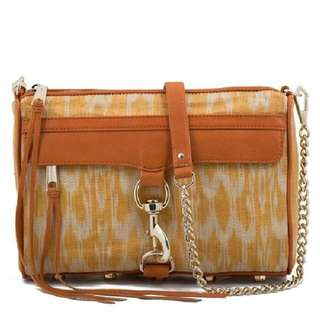 Rebecca Minkoff MAC almond Straw Crossbody/Clutch Ikat