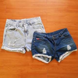 FOR SALE! Ripped Maong shorts (Bundle)