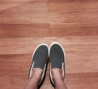 Vans Grey Slip On Fleece