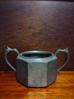 Vintage Abbey Hand Hammered Pewter Sugar Bowl