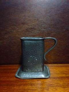 Vintage Hand Hammered Pewter Mug