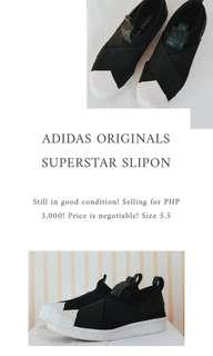 Adidas Orginals Slip on Black