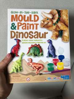 Glow in the dark mould and paint dinosaur