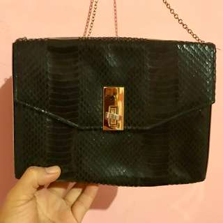 Authentic! New Look black bag with chain strap.