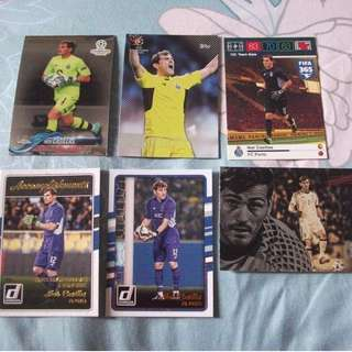 Iker Casillas Topps/Panini cards for sale/trade (Lot of 6 cards)