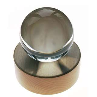 110mm Crystal Ball for Refraction Photography / Furnishing with Wooden Bluetooth Speaker