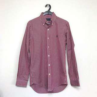 Polo Ralph Lauren Button Down Shirt in Red & White Stripe