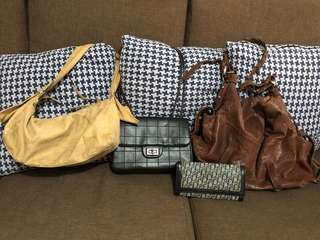 Bundle bags- Chanel,mulberry, christian dior, esprit