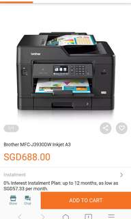 [Clearance] Brother MFC-J3930DW Inkjet A3 A4 Wireless Printer