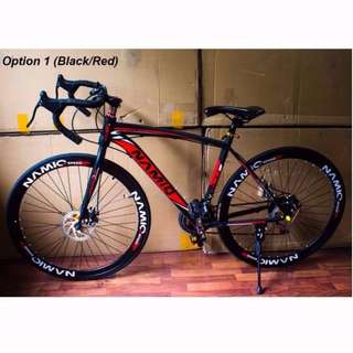 Black/Red Namiq Road Bike [Brand New, Ready Stocks]