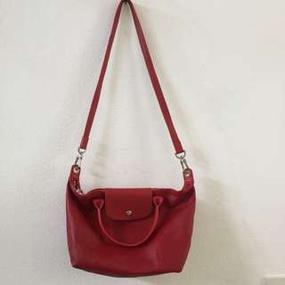 Longchamp Le Pliage (Cherry) / Medium