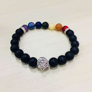 Lion Bracelet - Colored Stones