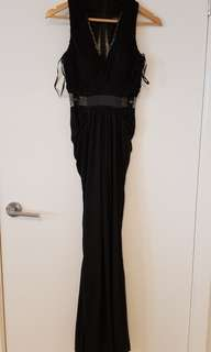 Sheike black formal maxi dress