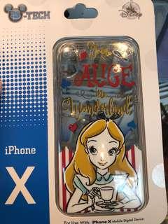代購Alice 愛麗絲 迪士尼 iphone X 電話殻 手機殻
