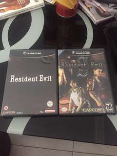 Resident evil 0 and 1 Gamecube