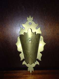 Vintage Brass Wall Flower Holder