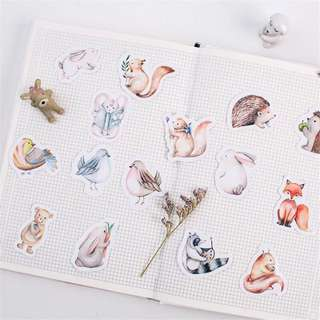 45pcs Forest animals stickers