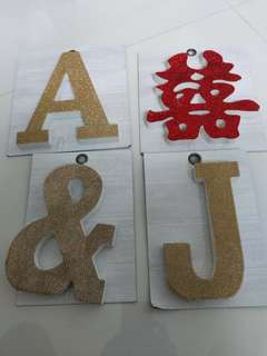 Wedding Symbol Letters