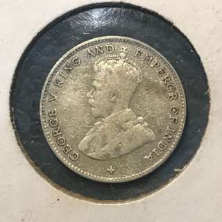 ⭐️ Rare Year! 1920 Straits Settlements King 👑 George V 10 Cents Silver Coin, Please Refer to 3 Photos For Similar Coins That's Sold In Auction ⭐️