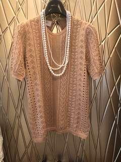 粉膚色針織衫