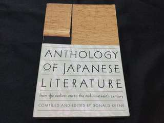 Anthology of Japanese Literature: From the Earliest Era to Mid-Nineteenth Century