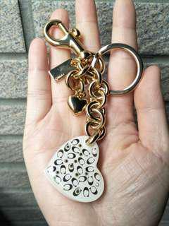 💕降價💕COACH 鑰匙圈 金色 愛心