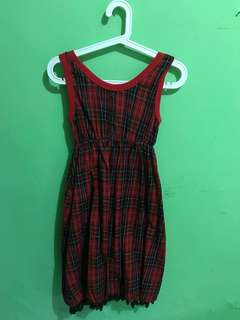 Square Red Dress*