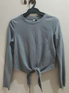 H&M Tie-front Sweater