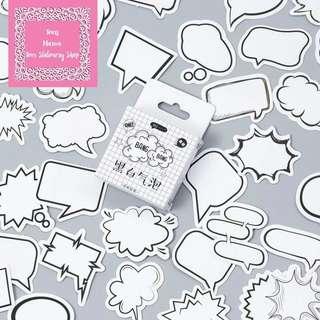 45pcs Bubbles Chatbox Sticker Pack