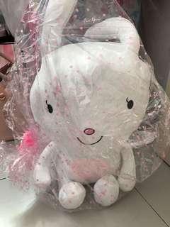 Brand new 40cm rabbit softtoy gift baby girl shower
