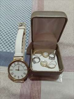 ❤ Authentic Anne Klein Watch & Earrings ❤